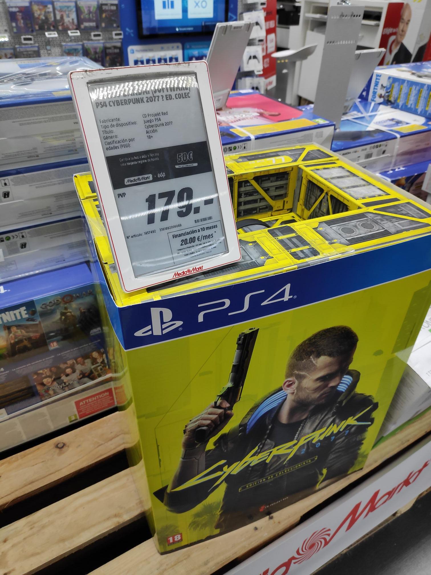 Cyberpunk PS4 Edición Coleccionista (Canarias) en Mediamarkt de Tenerife 3 de Mayo