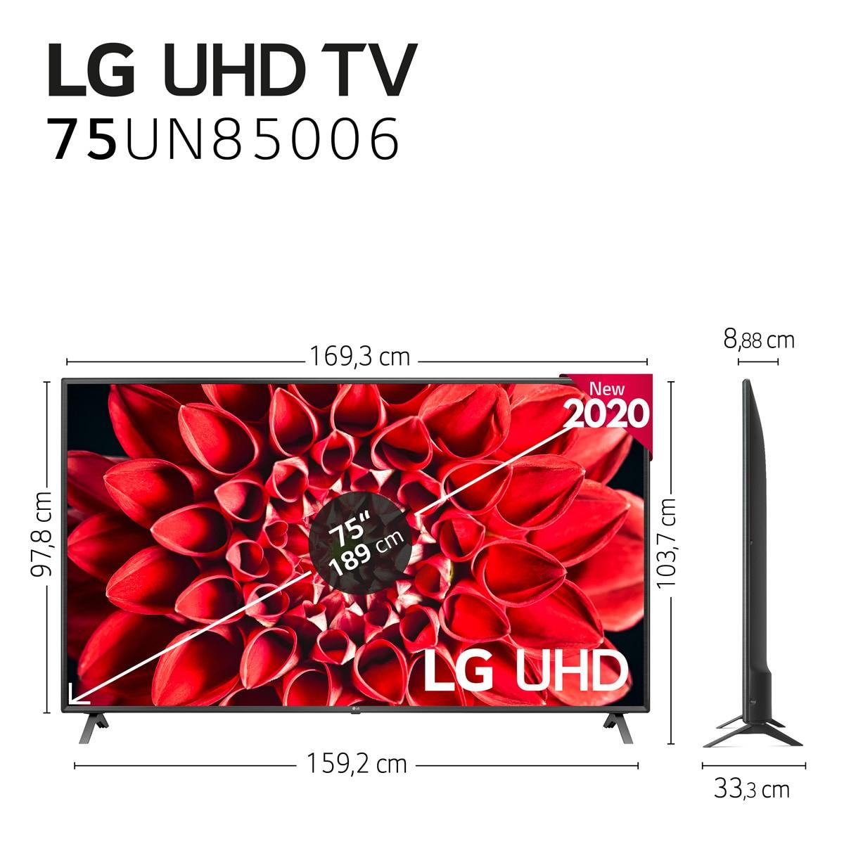 "TV LED 189,4 cm (75"") LG 75UN85006LA 4K con Inteligencia Artificial"