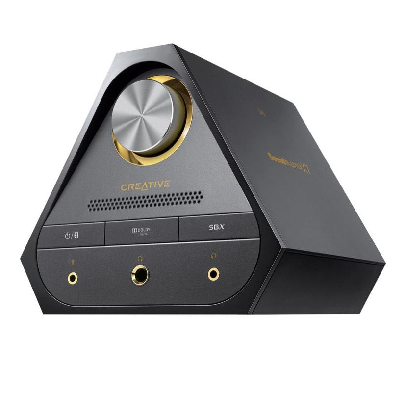 CreativeLabs Sound Blaster X7 Controlador/Tarjeta/Amplificador DAC hi-res 600 ohm 24bit 192khz 127db