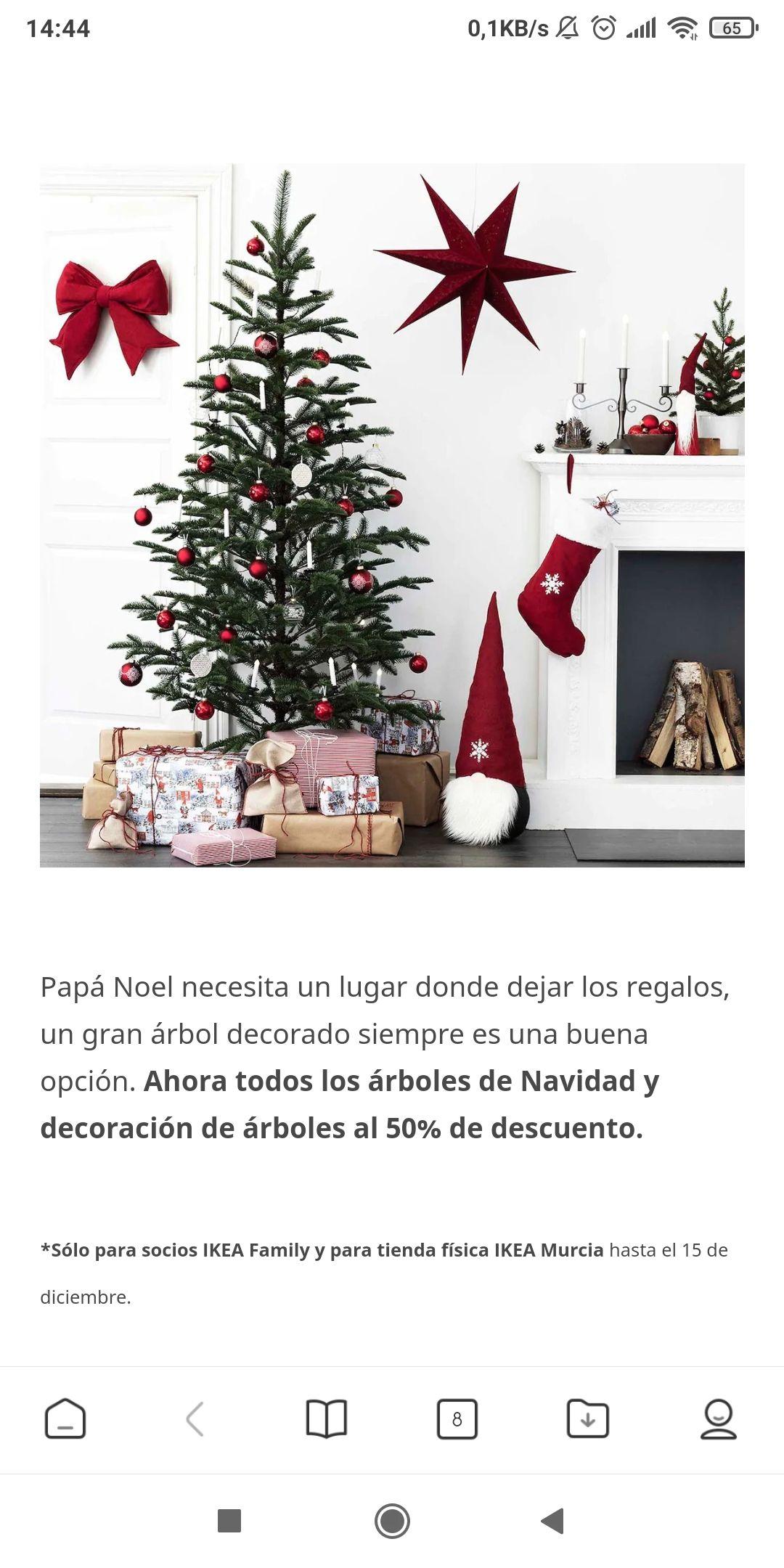 50% en todos los artículos de decoración de navidad (Ikea Murcia)
