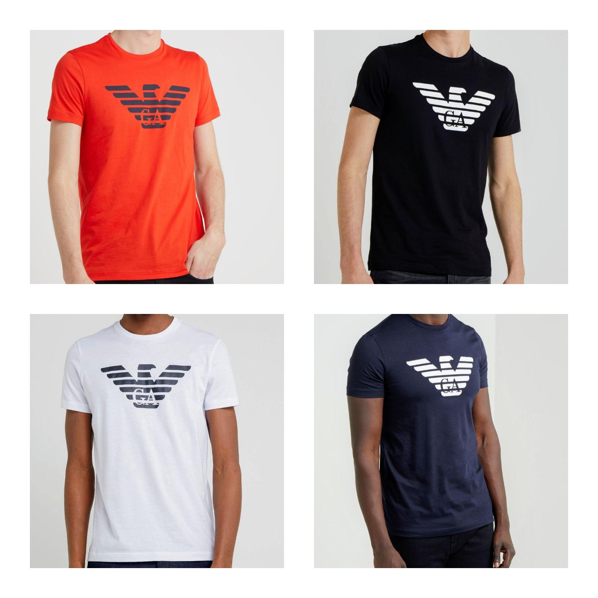 Camisetas de manga corta Emporio Armani de varios colores