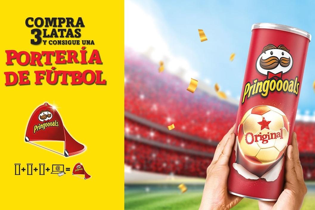 Compra 3 latas de Pringles y consigue una portería de fútbol