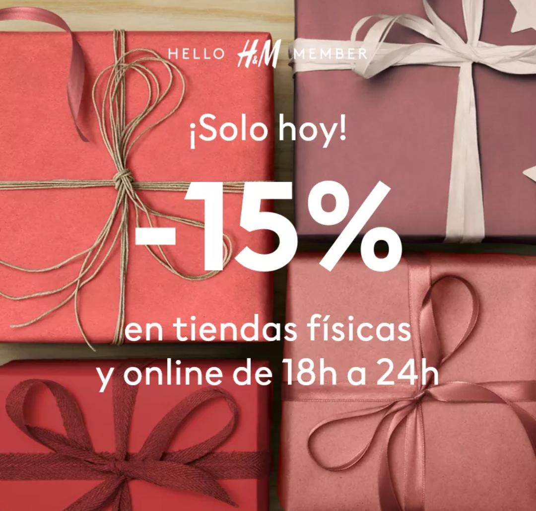 -15% H&M para miembros