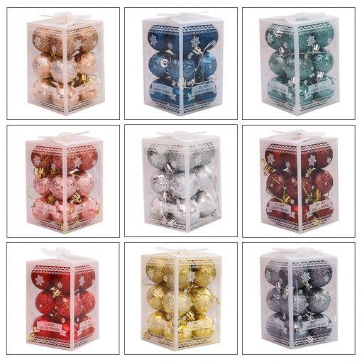 [PACK] 12 Bolas Navideñas - Distintos Colores (SÓLO COMPRA ONLINE)