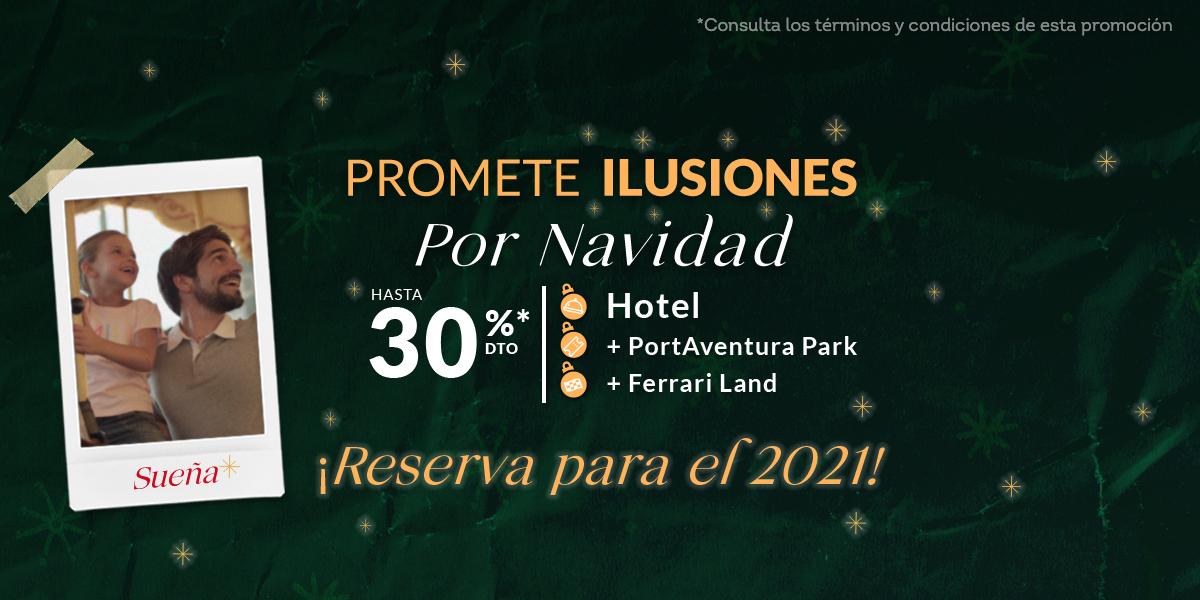 Hasta 30% en hoteles con entradas a Portaventura y Ferrari Land