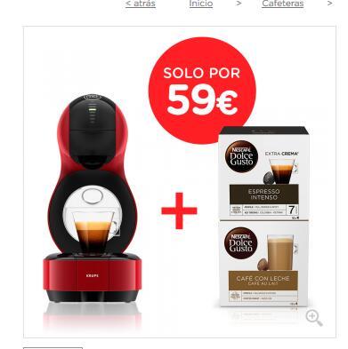 Cafetera Dolce Gusto Automática Combo Lumio Krups® Roja + Café con leche + Espresso intenso