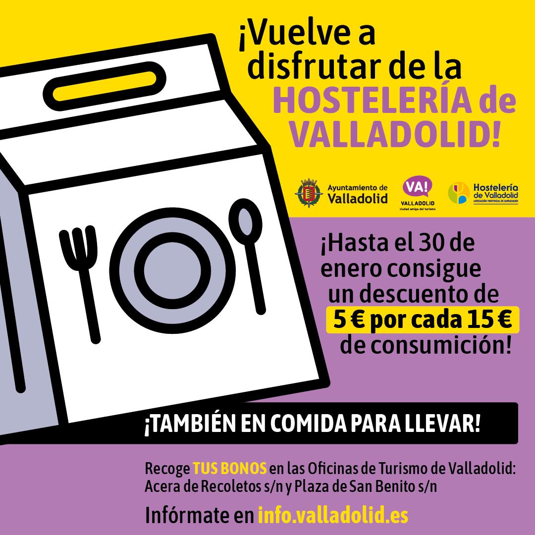 Bono Hostelería Valladolid (Descuento 5€ por cada 15€)