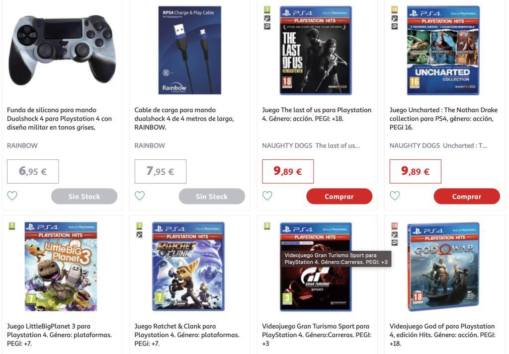 Recopilación videojuegos Playstation Hits por 9,89 euros (Tenerife)