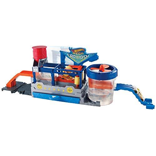 Supertúnel de lavado, pista de coches de juguete