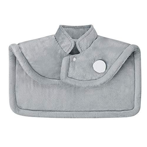 Medisana, almohadilla de calor para el hombro y el cuello, poncho de calor con 6 ajustes de temperatura - Gris
