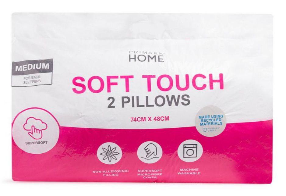 Pack de 2 almohadas Soft Touch. Microfibra. Venta en tienda.