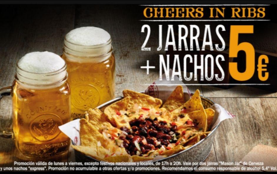 2 Jarras + Nachos 5€