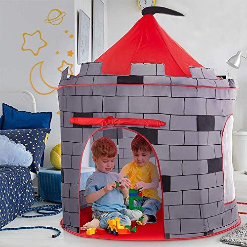 deAO Tienda Pop-Up Con Diseño De Castillo Rojo – Diseño Plegable Autoarmable