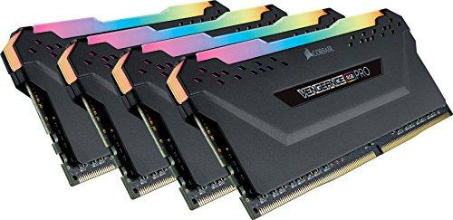 Corsair Vengeance RGB Pro - Kit de Memoria Entusiasta 32 GB (4 x 8 GB), DDR4, 2666 MHz, C16, XMP 2.0, Iluminación LED RGB