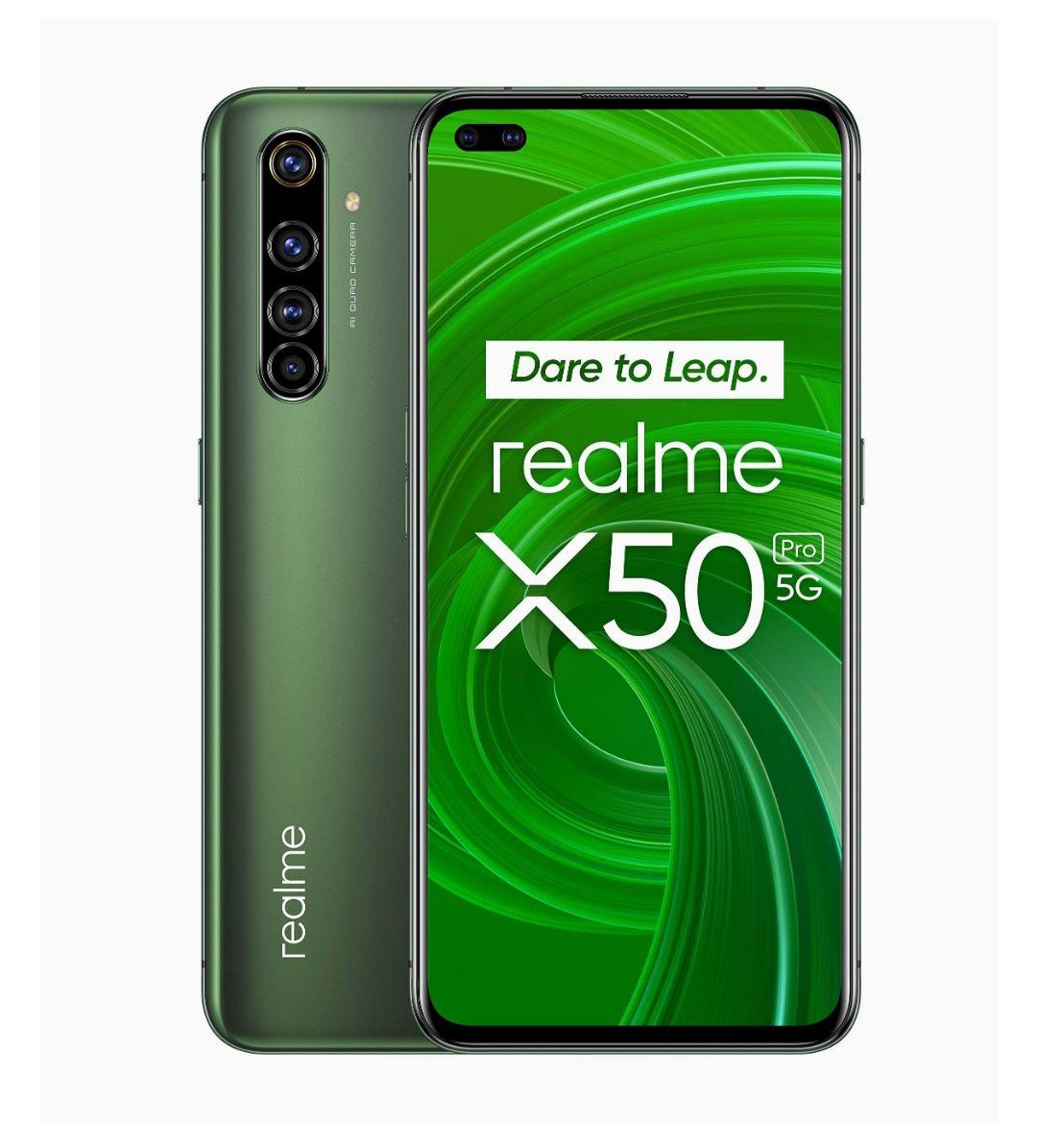 "realme X50 Pro – Smartphone 5G de 6.44"", 8 GB RAM + 256 GB ROM, procesador OctaCore Qualcomm Snapdragon 865, cuádruple cámara AI 64MP,"