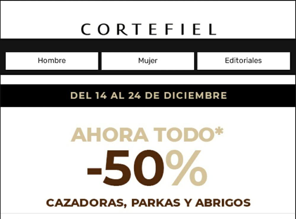 -50% en Cazadoras, Parkas y Abrigos