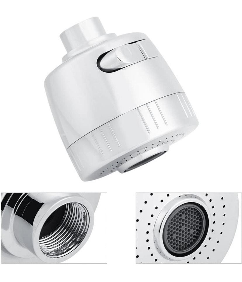 Filtro para Grifo, Cabezal Rociador Giratorio de 360 ° para Ahorro de Agua