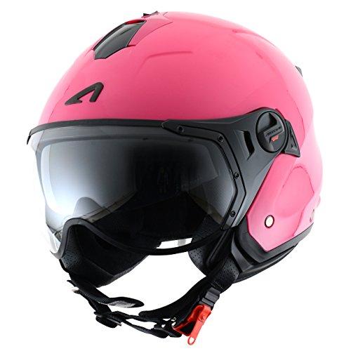 Astone Helmets MINISPORT-PIXS Minijet Sport - Casco de motocicleta, Rosa Brillante, XS