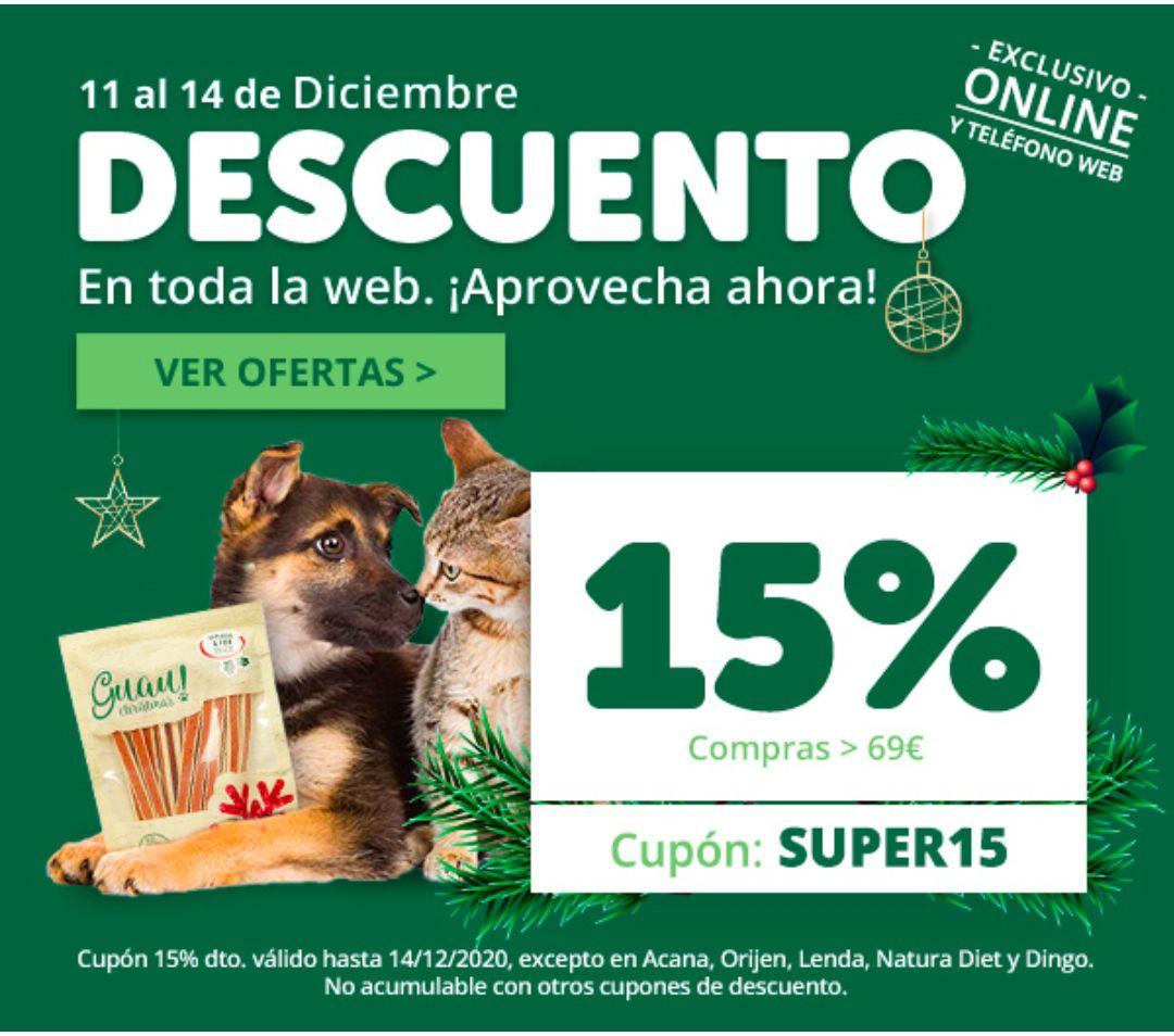15% Descuento en toda la web + Regalo cupón 5€