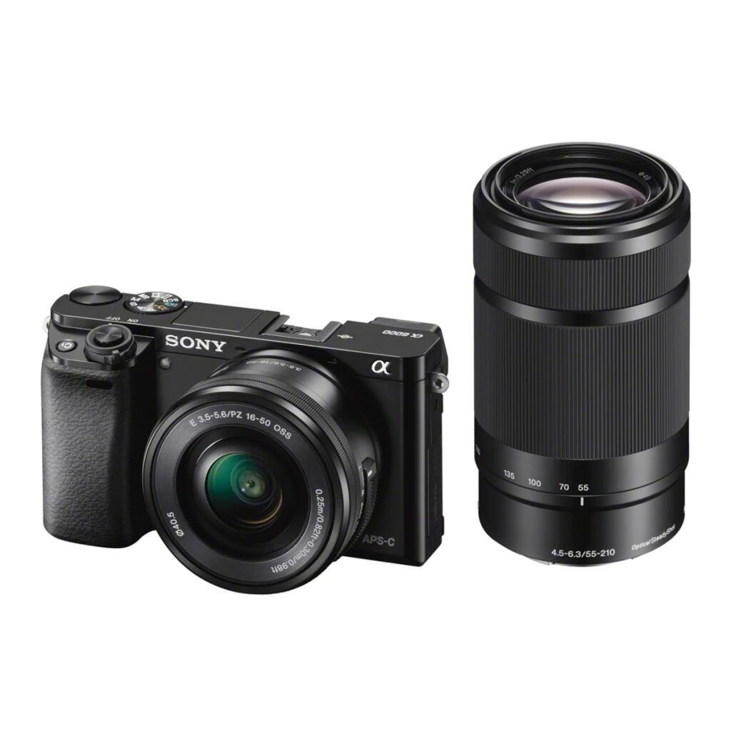 Cámara Evil Sony Alpha 6000 con Objetivos 16-50 mm y 55-210 mm