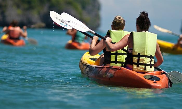 1 hora de kayak para 2 personas o 4 en tarragona a mitad de precio.