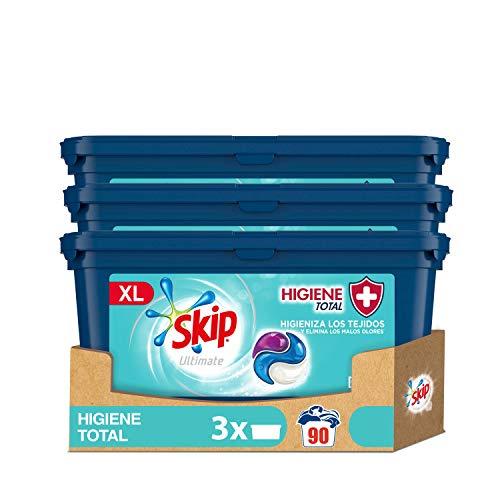 Skip Ultimate Detergente Capsulas 3en1 Higiene Total 30 lav - Pack de 3