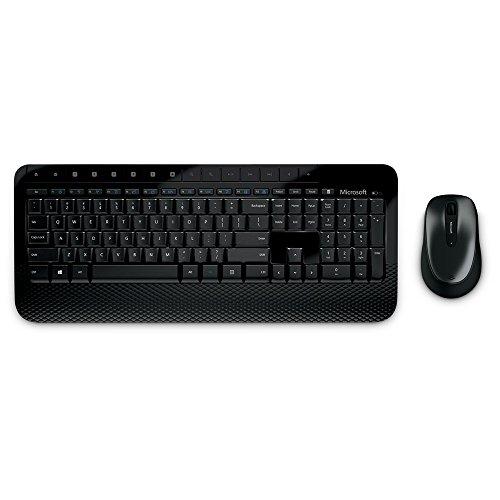 [Vendido y enviado por Amazon por lo que se pueden usar creditos promocionales] Microsoft Wireless Desktop 2000 -Juego de escritorio, teclado Inalámbrico con ratón, color negro
