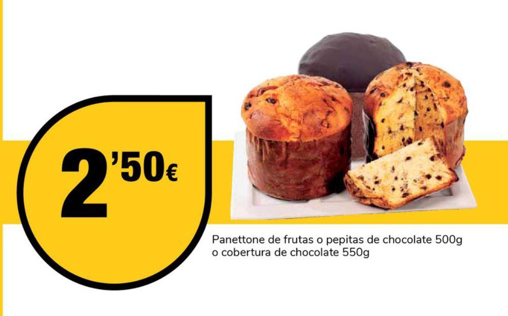 Panettone bañado en chocolate X 2,50 (Supeco Elche)