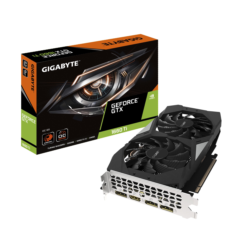 Tarjeta grafica Gigabyte GeForce GTX 1660 Ti OC 6G