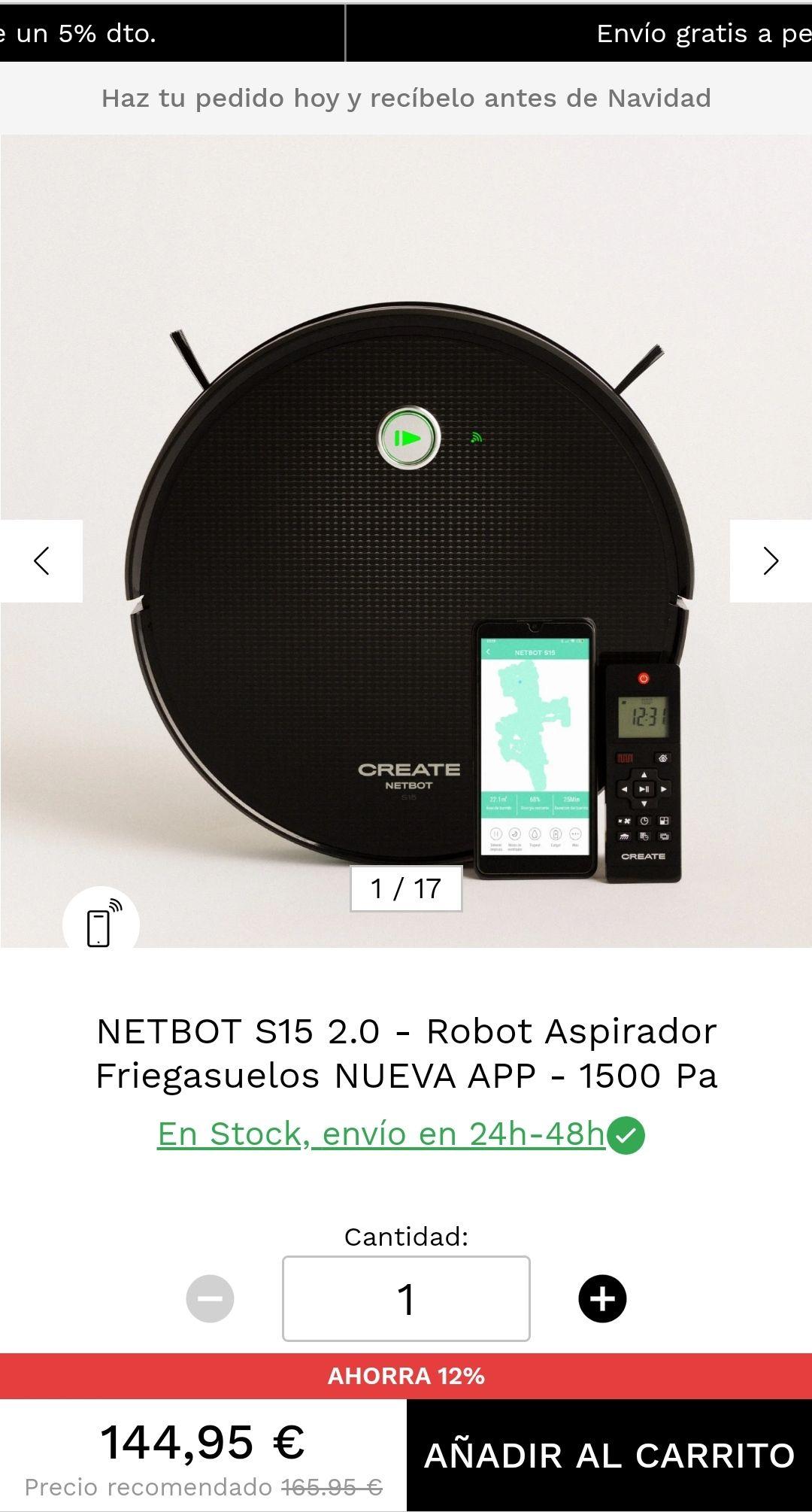 Robot aspirador y friega suelos IKHOS netbot S15 2.0