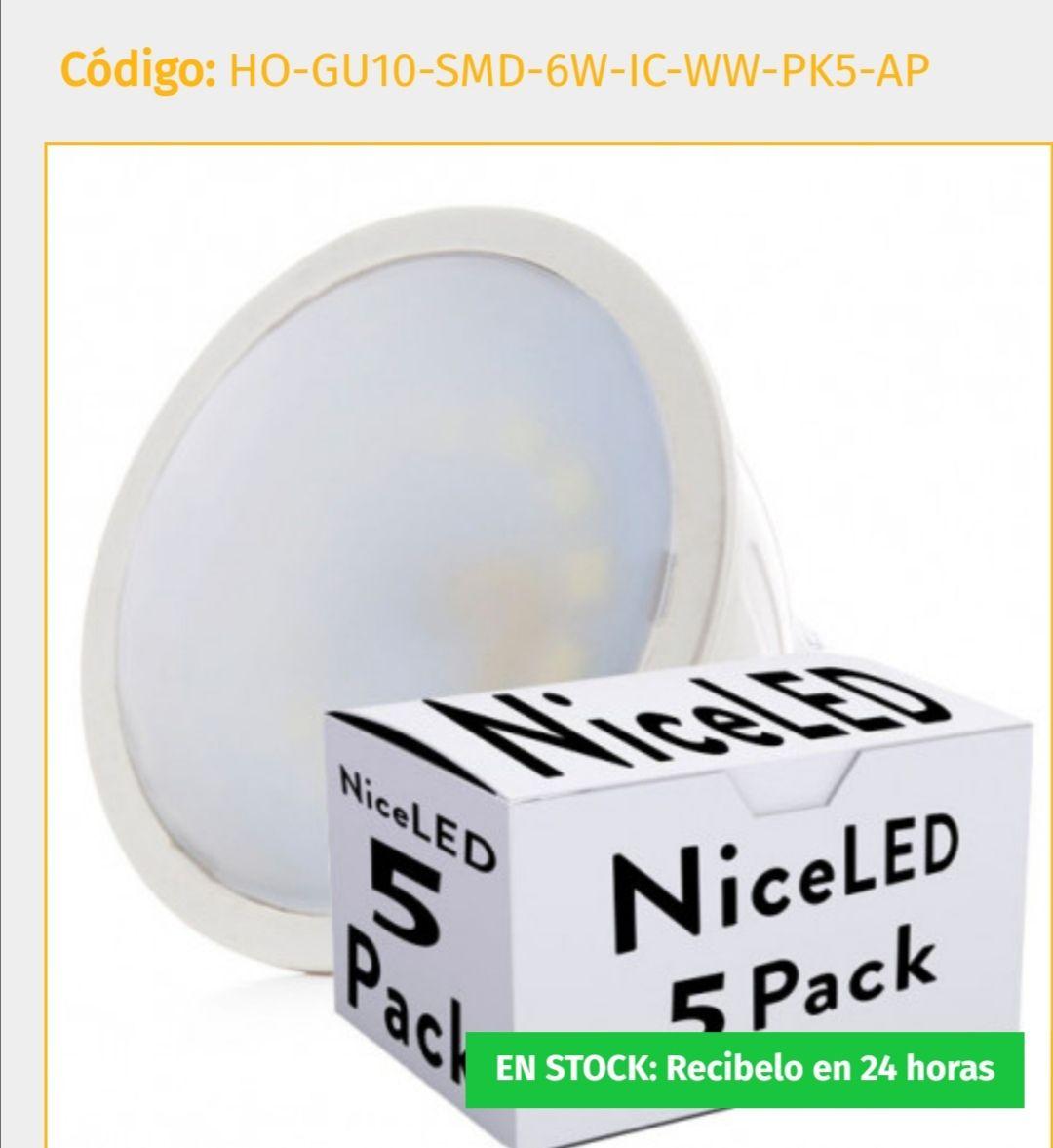 Pack 5 Bombilla LED GU10