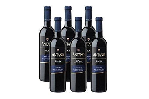 Antaño Crianza D.O Rioja Vino Tinto - 6 Botellas x 750 ml