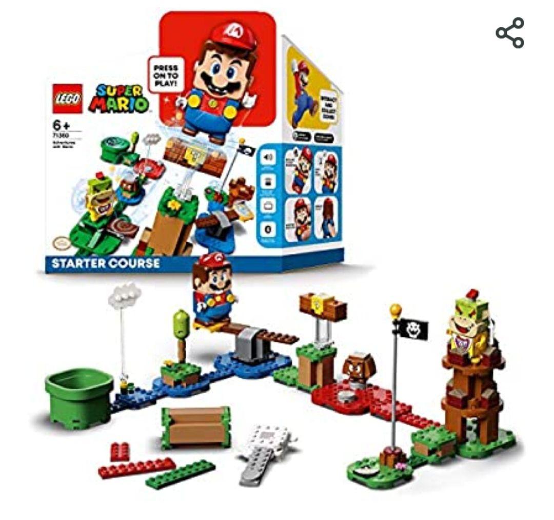 LEGO 71360 Super Mario Pack Inicial: Aventuras con Mario, Juguete Interactivo con Figura y Juego de Construcción