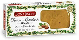Doña Jimena - Turrón blando de Cacahuete Elaborado con Cacahuete y Miel 150g | Textura Cremosa | Calidad Suprema
