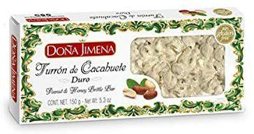 Doña Jimena - Turrón duro de Cacahuete Elaborado con Cacahuete y Miel   Textura Crujiente