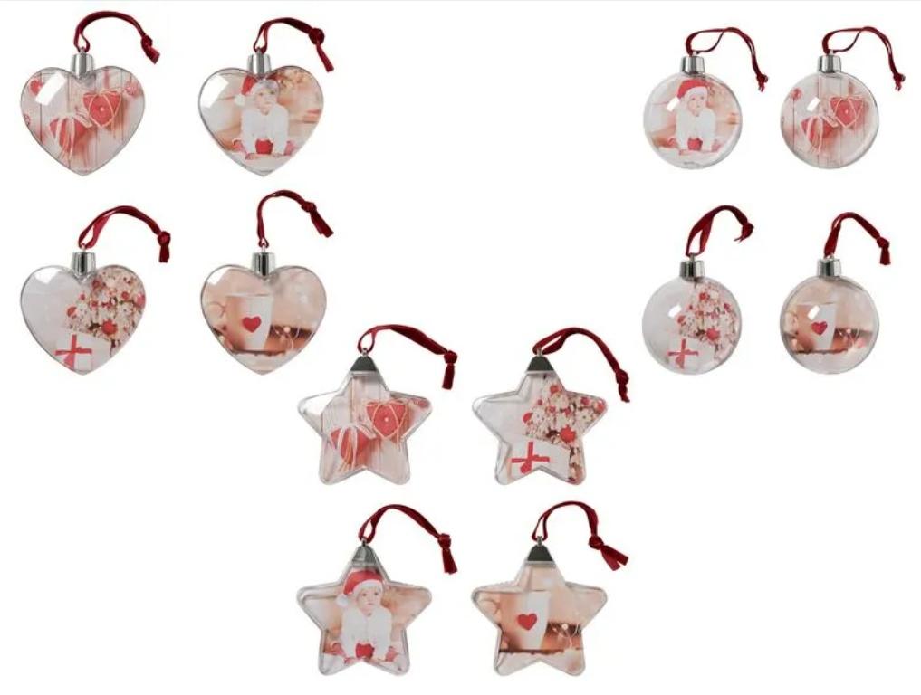 Adornos Navidad para colgar fotos pack de 4 - 3 modelos diferentes. (Online y en tienda)