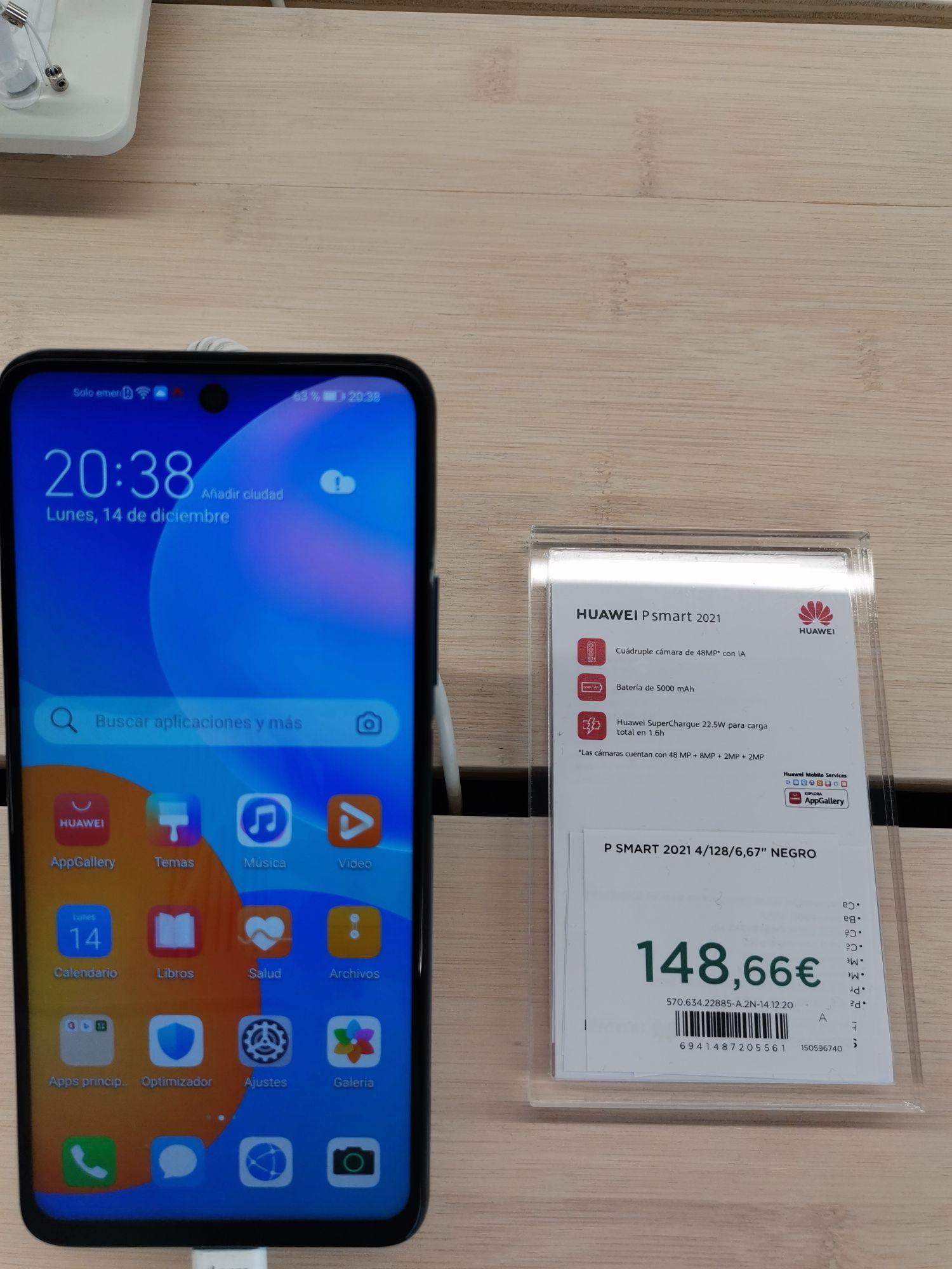 Huawei P smart 2021 en el Corte Inglés de Goya