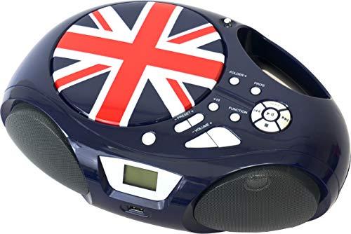 Belson Radio Lector de CD Portátil - Belson PCD-30, Display CD, Radio FM, Aux, MP3, Reproductor Musica USB, Salida Altavoces y Auriculares