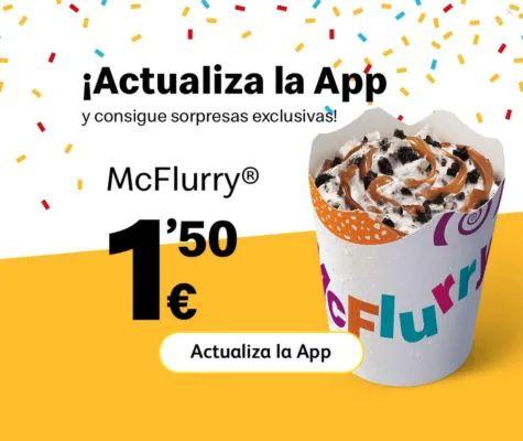 Cuenta tu experiencia en McDonald´s y llévate un McFlurry® gratis por la compra de otro