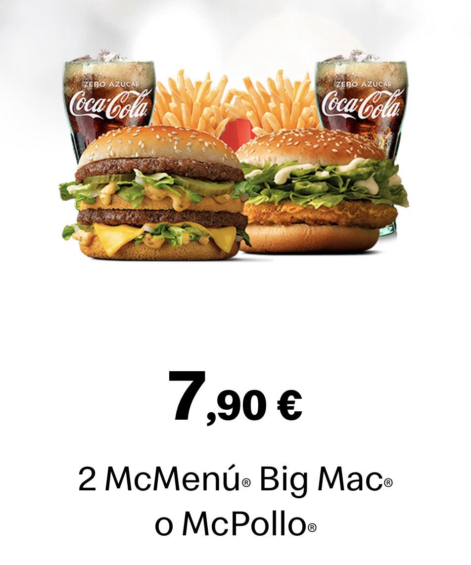 Dos menús por 7,90€! Dias Locos