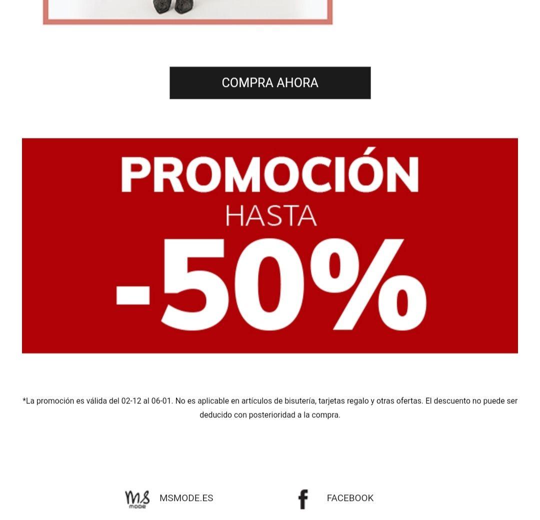 Descuentos hasta el 50% en productos seleccionados