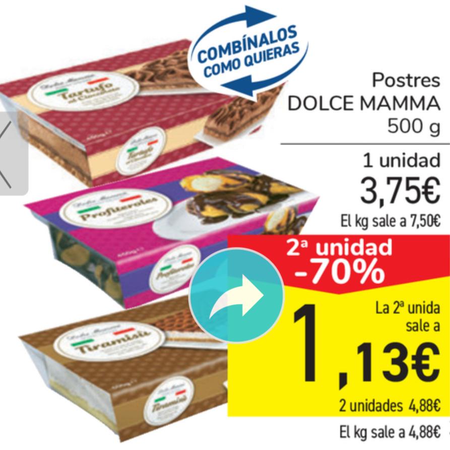 Postres Dolce Mamma 1 kilo por 4,88€
