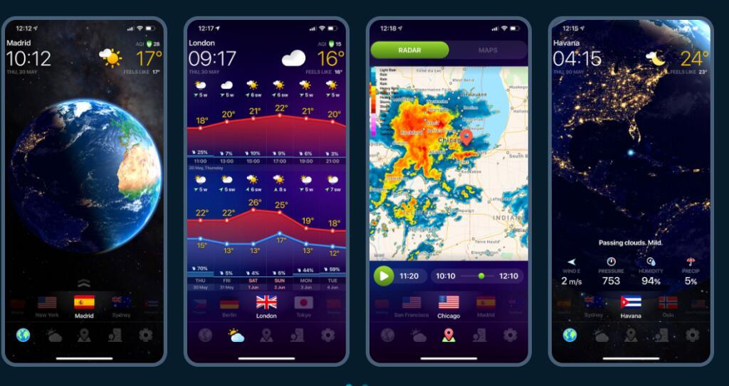 App gratis CLIMA: pronóstico diario, radar de lluvia [ANDROID, IOS]