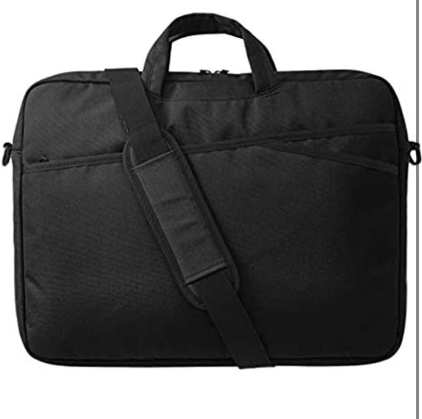 AmazonBasics - Maletín para portátil, 43 cm, color negro