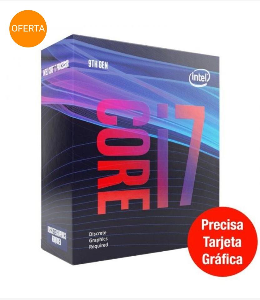 PROCESADOR INTEL CORE i7-9700F 3 GHZ CAJA 12 MB SMART CACHE
