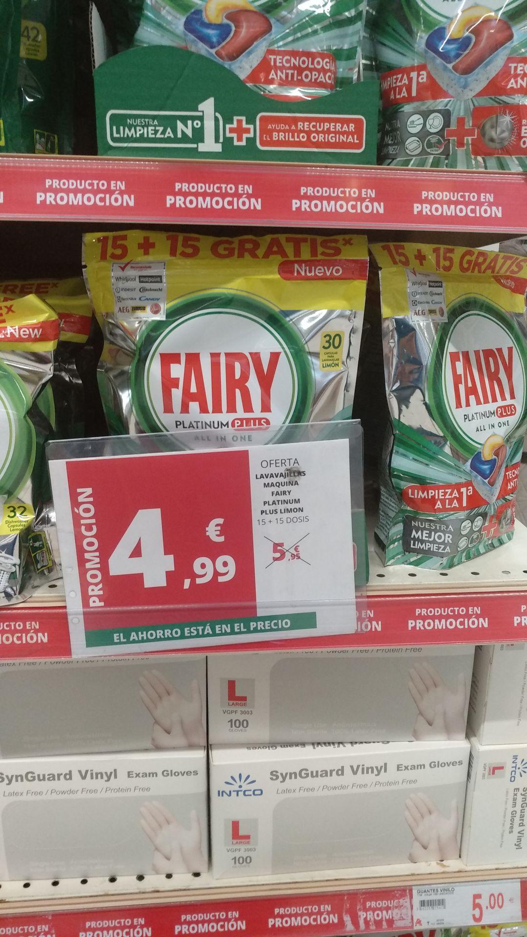 Fairy platinum plus 30 pastillas y fairy tradicional 42 pastillas lavavajillas por 4,99