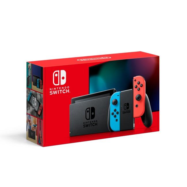 Nintendo Switch con Joy-Con Rojo Neon y Azul Neon (V2)