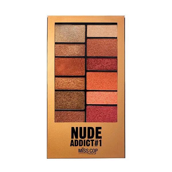 MISS COP Nude Addict   1UD Paleta sombra de ojos