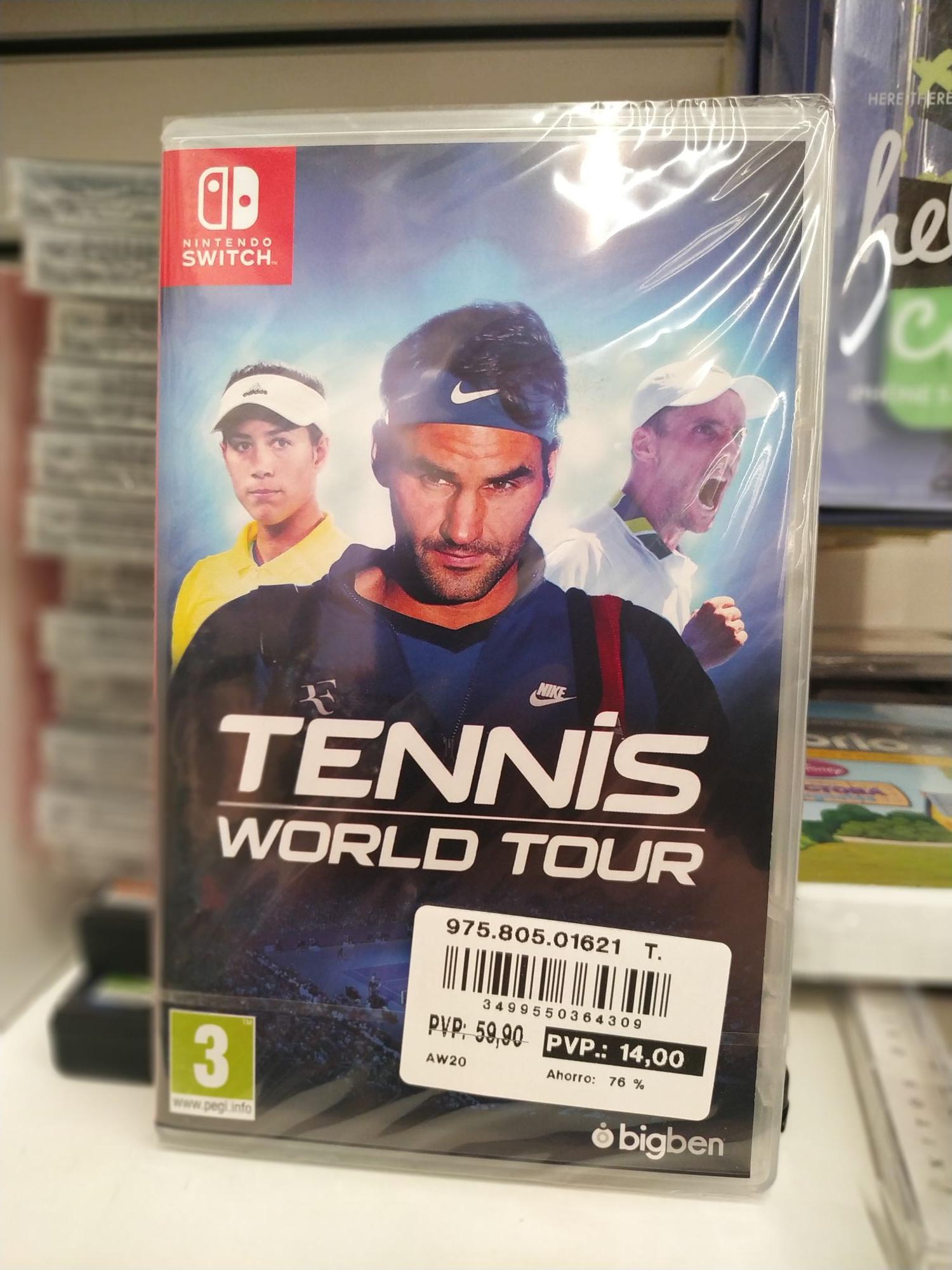 Tennis World Tour Switch / Corte Inglés Outlet C.C. Parque corredor (Torrejón de Ardoz)