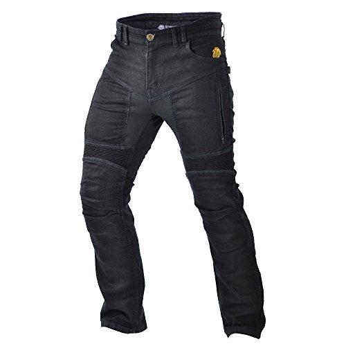 Trilobite Impresión de moto hombres pantalones vaqueros, negro, tamaño 46 Largo